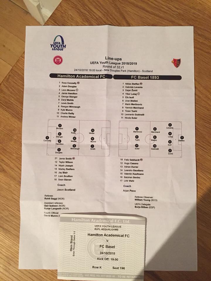 accies v basel home team sheet